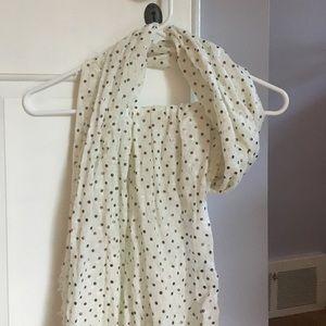 Accessories - White polka dot scarf